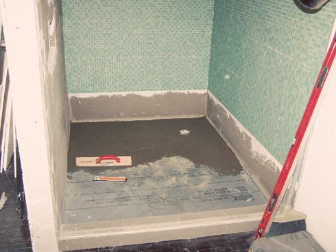 Concrete Shower Pan Goes Down Smooth Mymcmlife Com