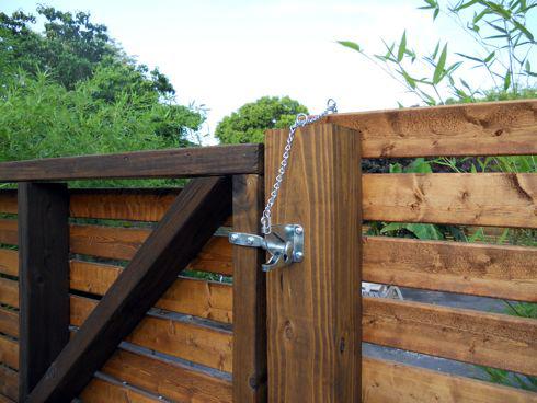 wood fence hardware