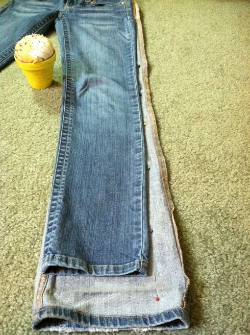 Sewing bootcut to straight leg