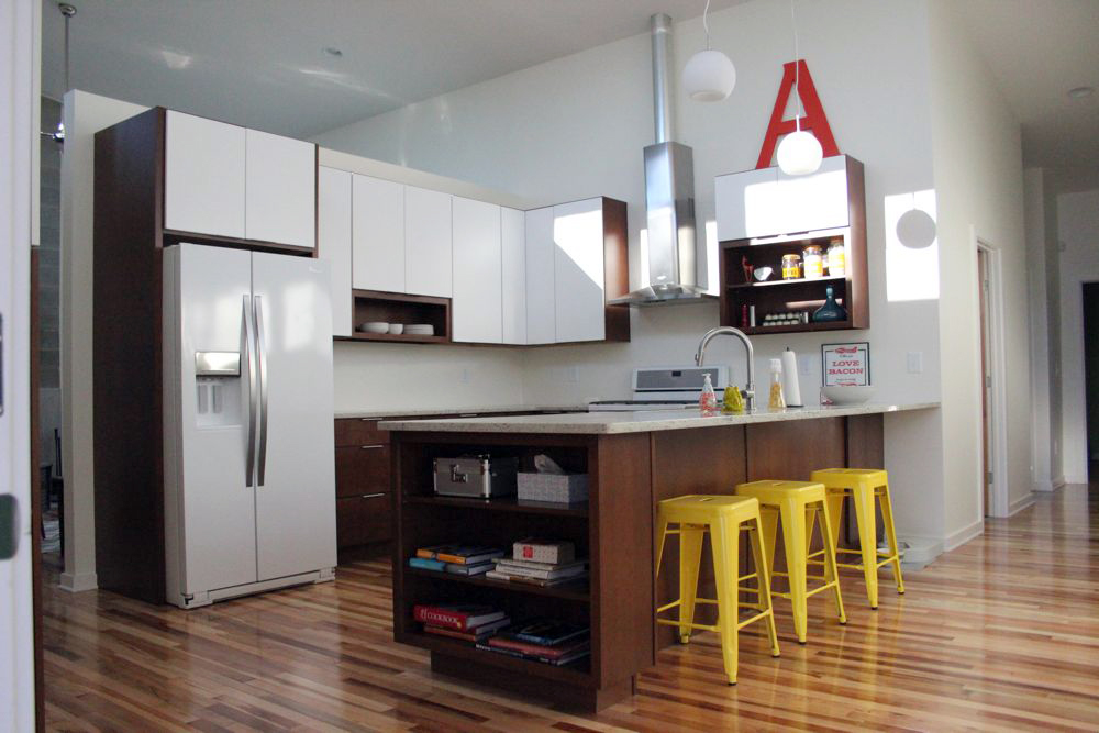 New home tour kitchen - Front door opens to kitchen ...