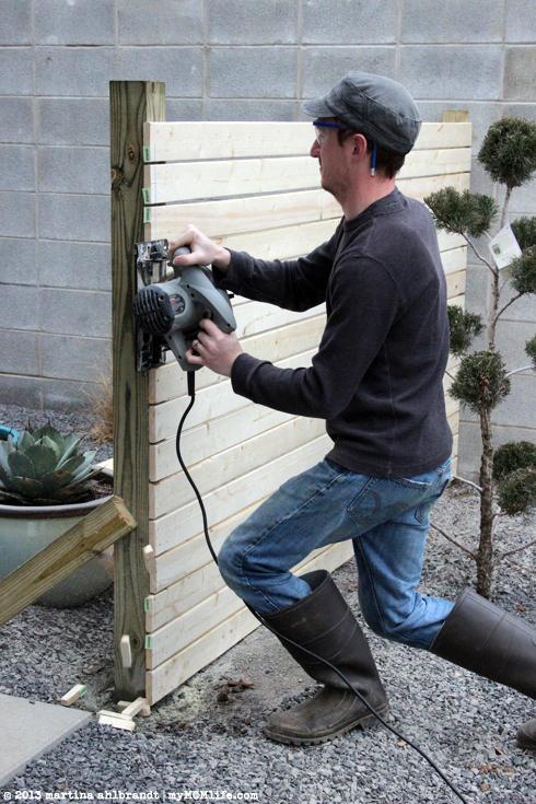 Homemade fence swinger