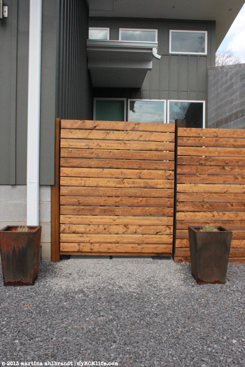 Diy Modern Wood Fence And Gate Courtyard Edition